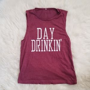 Tops - Day Drinkin' Fuscia Tank Top!